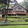 PRIVATE SETTING WITH 195′ LONG LAKE FRONTAGE